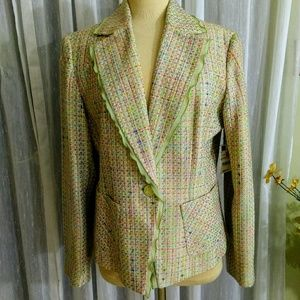 Worthington size 10 Tweed spring jacket fully line